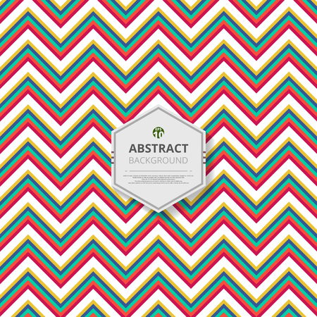 Abstract of christmas colorful stripe zigzag line pattern background vector, illustratipn eps10