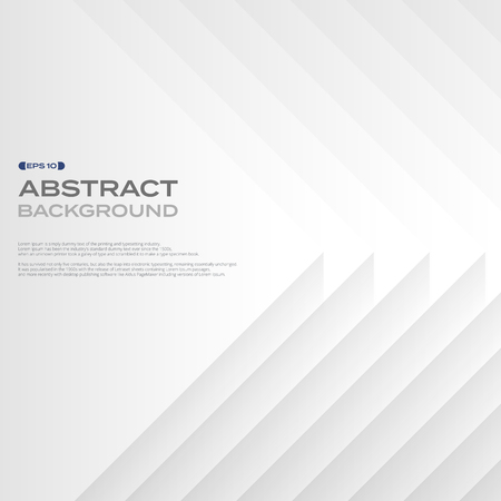 Abstract of layer pattern square white paper background. illustration vector eps10