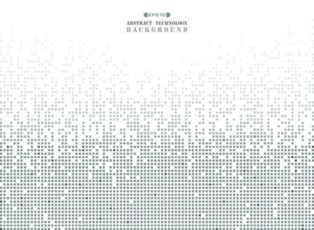 Résumé de la technologie futuriste en fond de pixel motif carré gris foncé. vecteur eps10