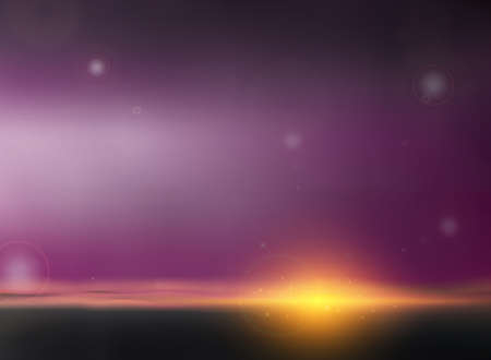 Abstract of twilight background in sunset of evening time. Illustration vector eps10
