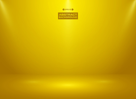 Abstract of gold color color in studio room background with sportlights. illustration vector eps10 Banco de Imagens - 127710086