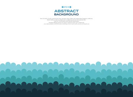 Abstract of blue curve wave pattern level background, illustration vector eps10 Banco de Imagens - 127692940