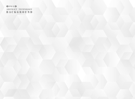 Abstract of futuristic gradient gray pentagon pattern background, vector eps10 Banco de Imagens - 127692941