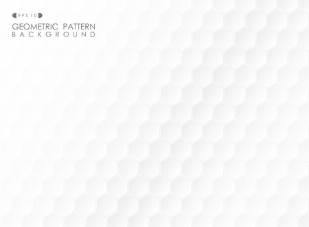 Abstract of futuristic gradient white pentagonal pattern background, vector eps10