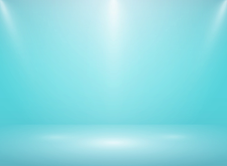 Abstract gradient soft blue studio room background with lights. vector eps10