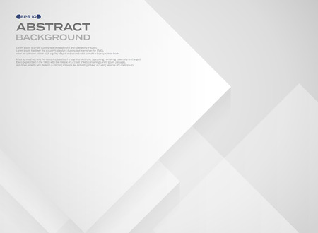 Abstract of wide square white paper pattern in layers background, illustration vector eps10
