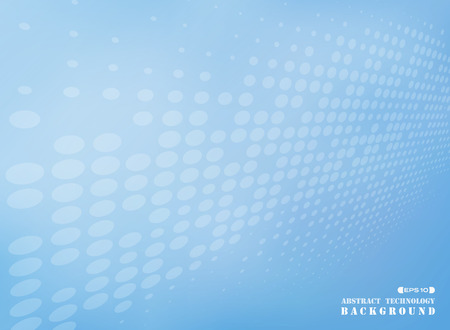 Abstract of dot pattern futuristic on blue background, vector eps10 Banco de Imagens - 127497261