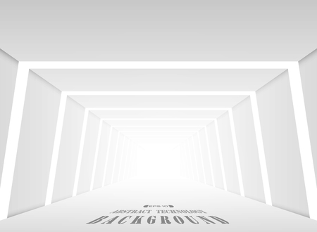 Abstract of futuristic gradient gray place perspective background, vector