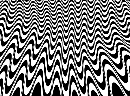 Abstract of black and white op art mesh pattern background, vector eps10 Ilustração