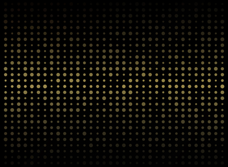 Abstract of dark background on gold circle shape random size pattern, vector eps10 Banco de Imagens - 127409470