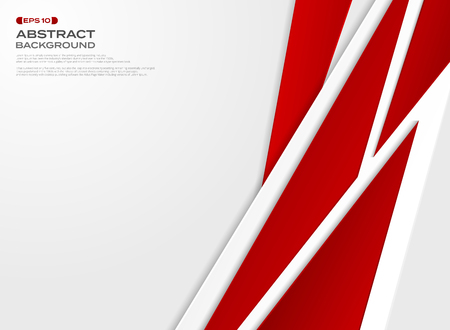 Abstract of futuristic gradient red paper cut background, vector eps10