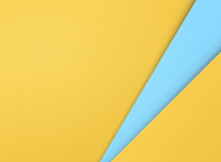 Abstract of simple gradient yellow and blue paper cut background, vector eps10 Ilustração