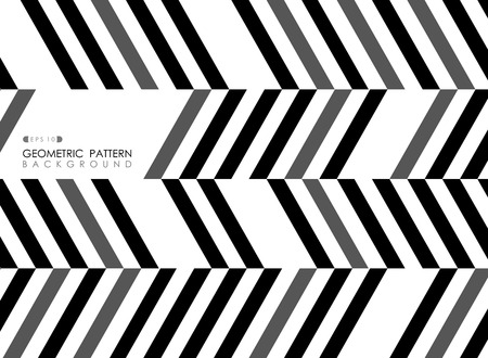 Abstract of stripe line black gray white pattern op art background, vector eps10