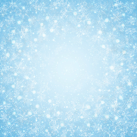Christmas of center blue sky snowflakes pattern background, vector eps10 Banco de Imagens - 127232360