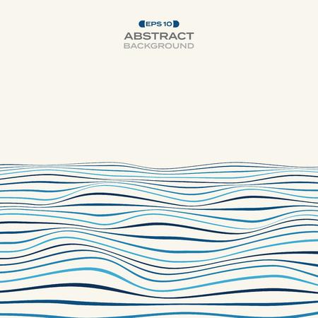 Larrge of color level of blue stripe line wavy pattern background, illustration vector eps10
