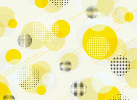 Abstract of simple round bubble yellow geometric pattern background, illustration vector eps10 Banco de Imagens - 127102851