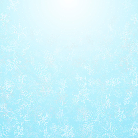 Abstract of christmas festival snowflakes with sky background, vector eps10