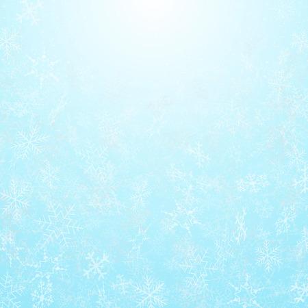 Resumen de los copos de nieve del festival de navidad con fondo de cielo, vector eps10