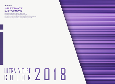Ultra violet flat color line pattern with copy space background. vector eps10