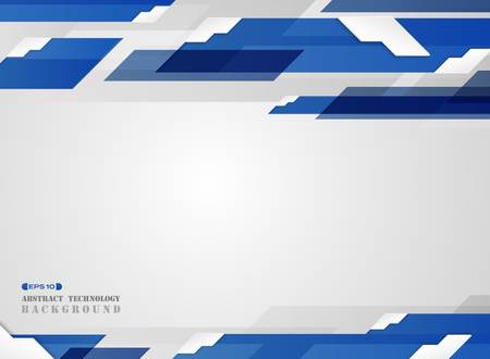 Abstract of futuristic gradient blue stripe line pattern with white edge shadow background. vector eps10