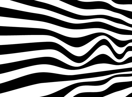 Black and white of abstract crosswalk opart background, vector eps10 Ilustração