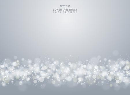 Abstract of christmas gradient gray bokeh background, vector eps10 Banco de Imagens - 127041352