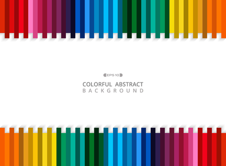 Abstract of colorful stripe line background with copy space, vector eps10 Banco de Imagens - 127041353