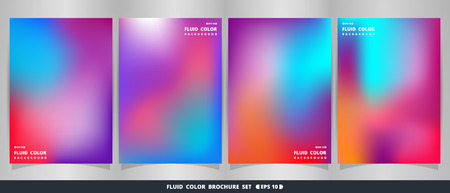 Abstract of modern fluid colorful brochure set. vector eps10.