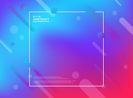 Abstract of colorful geometric shape background. Fluid color of trendy design pattern. vector eps10
