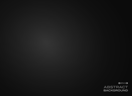 Abstract clear gradient black background, vector eps10 Ilustração