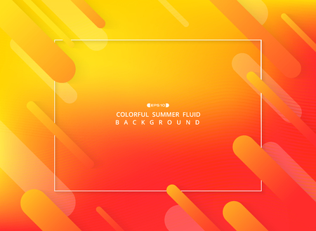 Abstract of colorful fluid background with geometric shapes pattern, vector eps10
