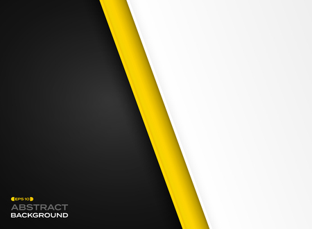 Abstract of futuristic technology yellow black white background, vector eps10