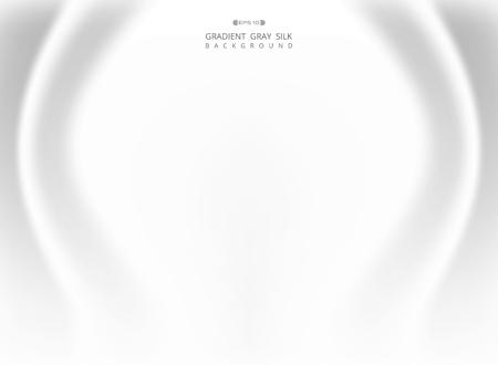 Résumé de fond de soie gris blanc dégradé. vecteur eps10