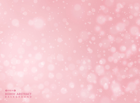 Gradient pink color background with abstraction of bokeh pattern, illustration vector eps10