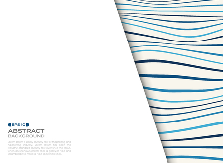 Abstract cover of blue wavy pattern with free space of text background. vector eps10