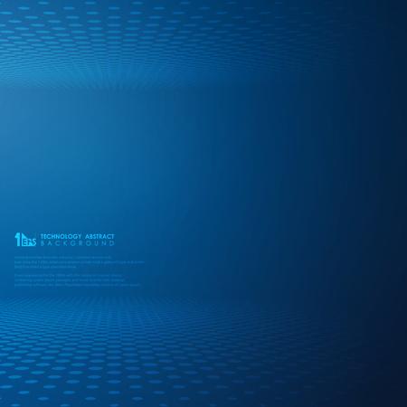Fondo azul abstracto del modelo del círculo del punto de la pendiente de la tecnología futurista. Decoración para presentaciones de tecnología moderna. También se puede utilizar para carteles, anuncios, pancartas, diseño de portadas, obras de arte. vector eps10