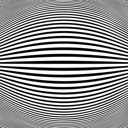 Abstract black stripe line op art fish eye background. Black stripe line of pattern details. Vector eps10