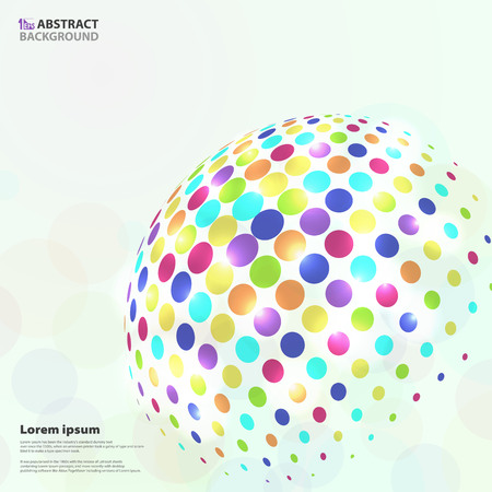 Abstract vivid colorful circle pattern in global shape background. You can use for cover design, poster, ad. vector 向量圖像