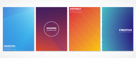 Abstract colorful minimal covers pattern design. Halftone in gradient book. Future geometric design. vector eps10