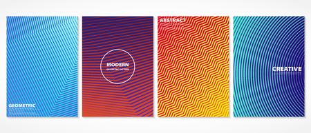 Diseño de patrón de cubiertas mínimo colorido abstracto. Medios tonos en libro degradado. Futuro diseño geométrico. vector eps10