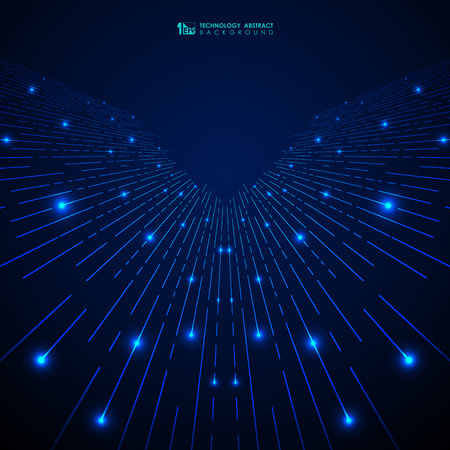 Abstract blue gradient technology stripe lines pattern with glitters background. You can use for modern cover, ad, poster, artwork. vector eps10