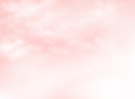 Clear pink living coral sky with clouds pattern background. You can use for summer time ad, poster, artwork, print, nature design paper. illustration vector eps10 Vektoros illusztráció