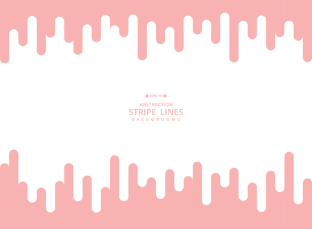 Abstract modern background of pink living coral color stripe line geometric pattern. Using for poster, brochure, ad, art design. vector eps10