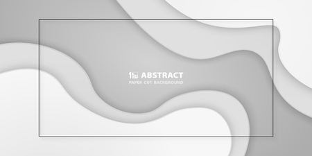 Abstract gradient white paper cut background. You can use for layout artwork for presentation, poster, ad, report. vector eps10