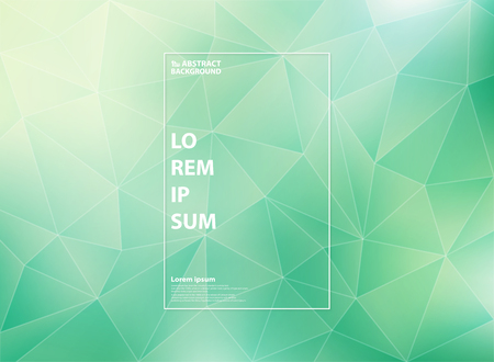 Abstract modern gradient green mint of low polygon triangle patterns with white outline style. You can use for cover artwork, ad, poster, web, print, report. vector eps10