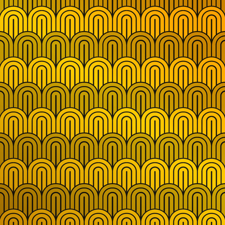 Abstract luxury mustard yellow and black pattern of circle pattern background. You can use for ad, print, cover design. illustration vector eps10