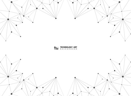 Abstract black technology connection line on white background. You can use for technology ad, poster, print, cover artwork. illustration vector eps10 Иллюстрация