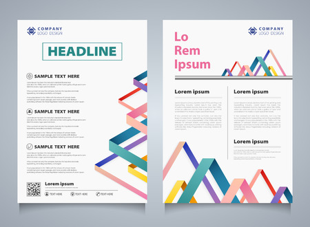 Abstract colorful stripe line overlap brochure corporate template. You can use for modern design of business brochure, book, report, cover, annual. illustration vector eps10 Vector Illustration