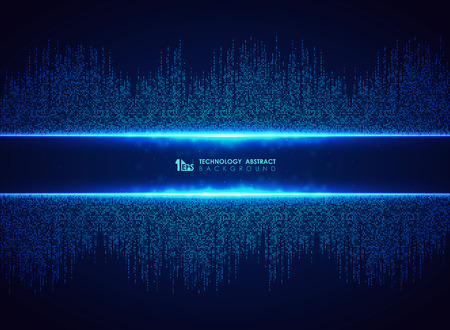 Abstract blue technology of square connection pattern background. You can use for futuristic graphic design, hi tech, poster, book, artwork. illustration vector eps10