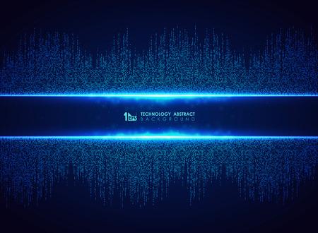 Streszczenie niebieski technologia tło wzór połączenia kwadratowego. Możesz użyć do futurystycznego projektowania graficznego, hi tech, plakatu, książki, grafiki. ilustracja wektor eps10